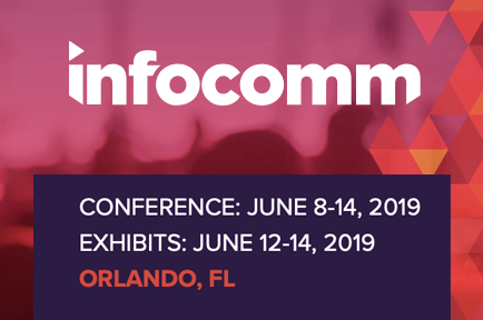 Registration is now open! Visit AJA at InfoComm 2019 Booth #C3960, Free reg code AJA222