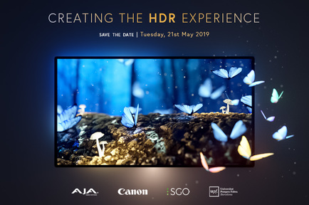 See AJA's HDR Solutions live at the Creating The HDR Experience event in Barcelona, Spain