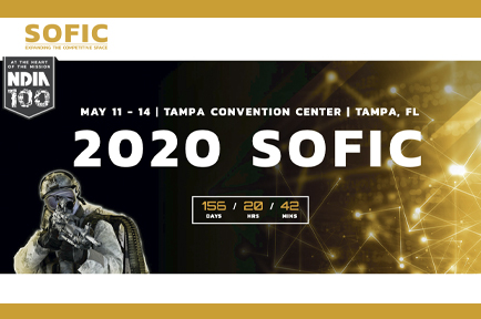 See you at at SOFIC, Tampa Convention Center, Tampa, FL