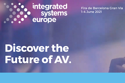 Register today to join AJA at Integrated Systems Europe ISE, Fira de Barcelona Gran Via