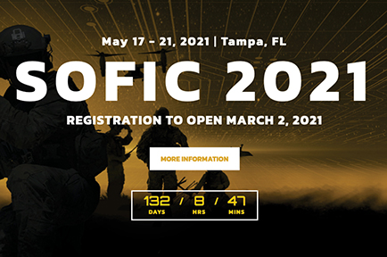 See you at SOFIC, Tampa Convention Center, Tampa, FL