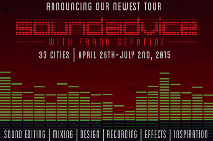 AJA Sponsors the 2015 MZED Sound Advice Tour: Audio for Filmmakers, Broadcast and the Web with Frank Serafine