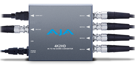 4K2HD - 4K/UltraHD to HD-SDI and HDMI Down-Converter