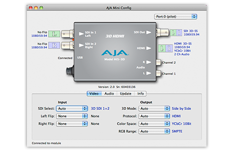 Mini-Config Software - Software - Products - AJA Video Systems
