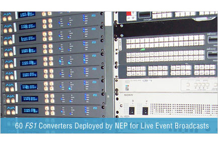 60 AJA FS1 Converters Deployed by NEP for Live Event Broadcasts
