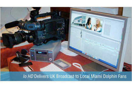 Miami Dolphins Tap AJA Io HD to Deliver Broadcast of UK Game to Local Fans