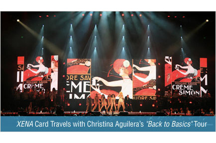 AJA XENA Card Travels with Christina Aguilera's 'Back To Basics' Tour