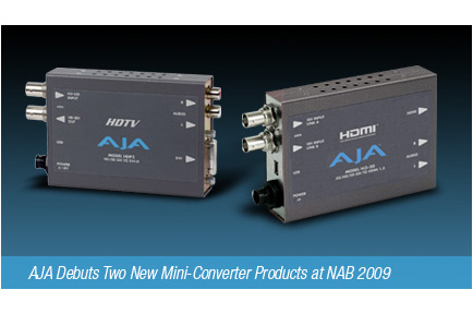 AJA Debuts Two New Mini-Converter Products at NAB 2009