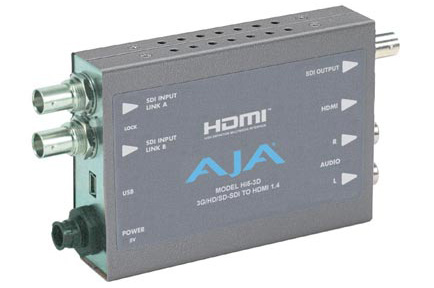 AJA Introduces Hi5-3D Mini-Converter For Stereo 3D Monitoring