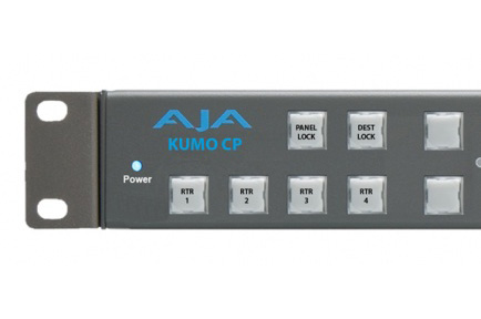 AJA Ships KUMO CP Remote Control Panel for KUMO Compact SDI Routers