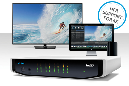 AJA Io 4K Gains 50/60 fps 4K/UltraHD High Frame Rate Support with v10.5.1 Software