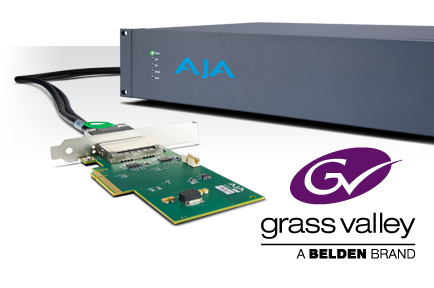 AJA Announces Development Partnership with Grass Valley