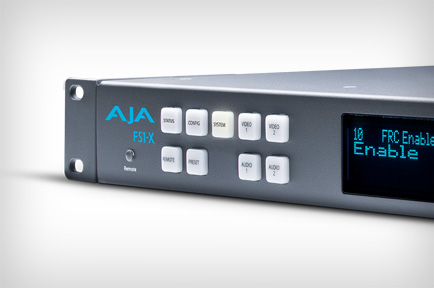 AJA Updates FS1-X to Include 5.1 and 7.1 Stereo Mix Down and Reverse Telecine