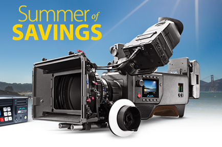 "AJA Launches ""Summer of Savings"" Promotion for  CION and Select Ki Pro Products"