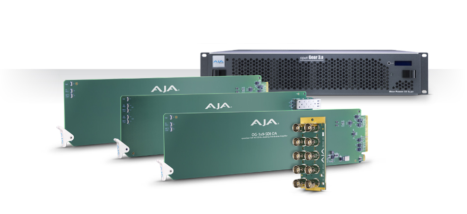 AJA Releases New openGear® Compatible Rack Cards and Frame