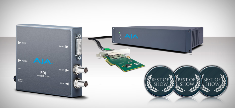 AJA Video Systems Sweeps NAB 2012 Best of Show Awards