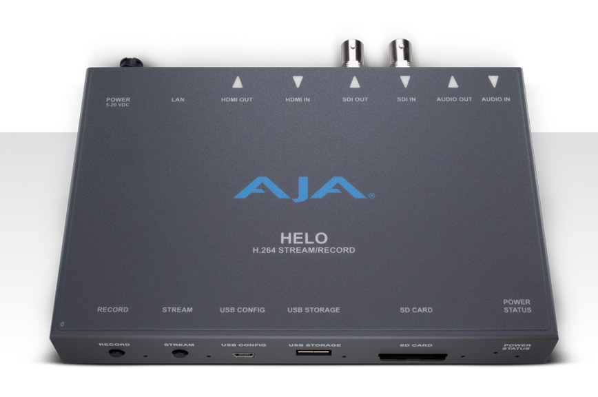 AJA Announces HELO Streaming and Recording Appliance with H.264 Support