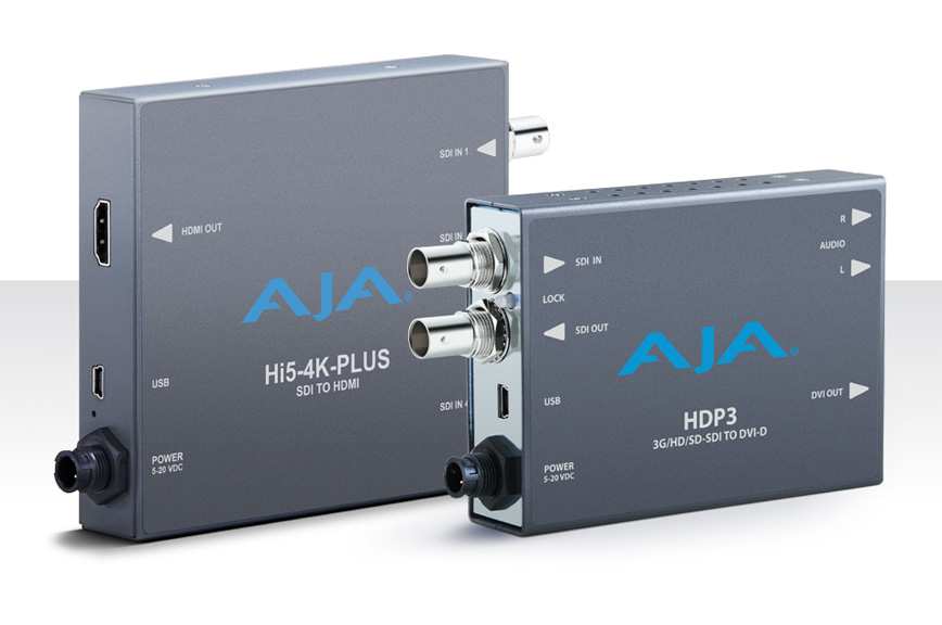 AJA Introduces New Mini-Converters and  openGear®-Compatible Rack Cards at NAB 2016
