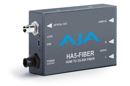 AJA Unveils New HA5-Fiber Mini-Converter at InfoComm 2016