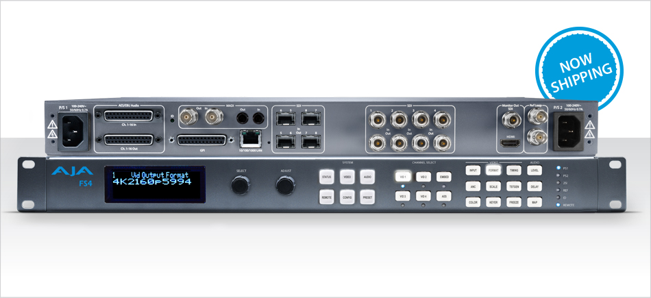 AJA Releases FS4 Frame Synchronizer and Converter - Top Stories ...
