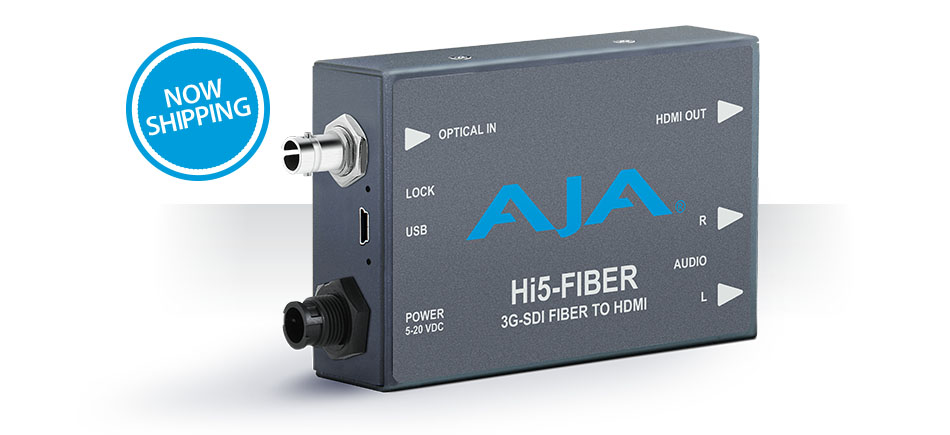 AJA Updated Hi5-Fiber Mini-Converter Now Shipping