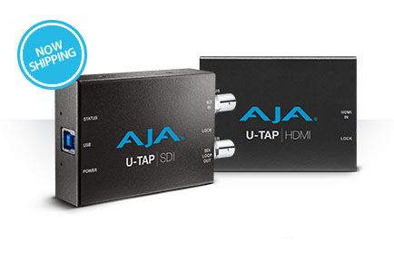 AJA Ships U-TAP USB 3.0 Capture Devices