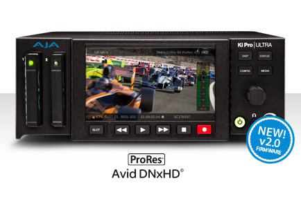 AJA Ki Pro Ultra Update Adds Support for Avid® DNxHD