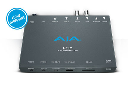 AJA Ships HELO H.264 Streaming and Recording Device