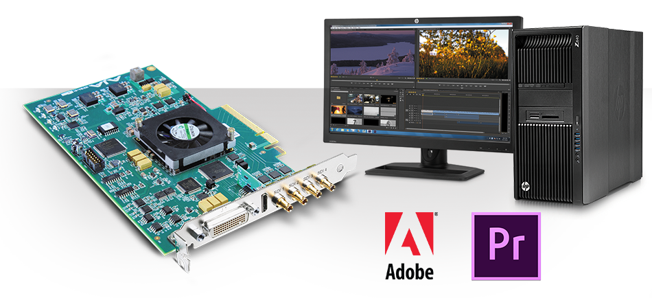 AJA Announces<br />Support for Latest<br />Adobe Premiere Pro CC Spring Release Including Hybrid Log Gamma (HLG) HDR Workflows