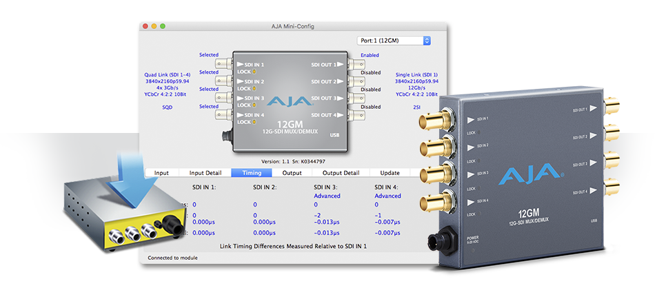 AJA Releases Mini-Config v2.21.2 Software Update<br />Extending Mini-Converter Features