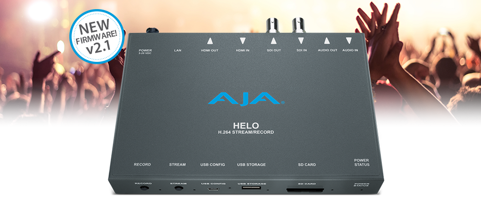 AJA Announces HELO v2.1 Firmware at NAB 2018