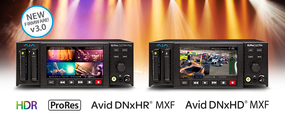 AJA Adds Avid DNxHR Support to Ki Pro Ultra and Ki Pro Ultra Plus with v3.0 Firmware