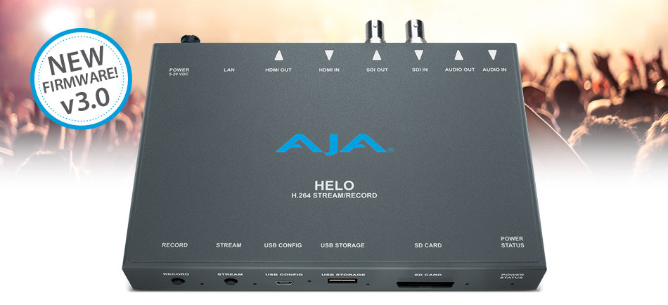 AJA Announces HELO v3.0 Firmware at IBC 2018