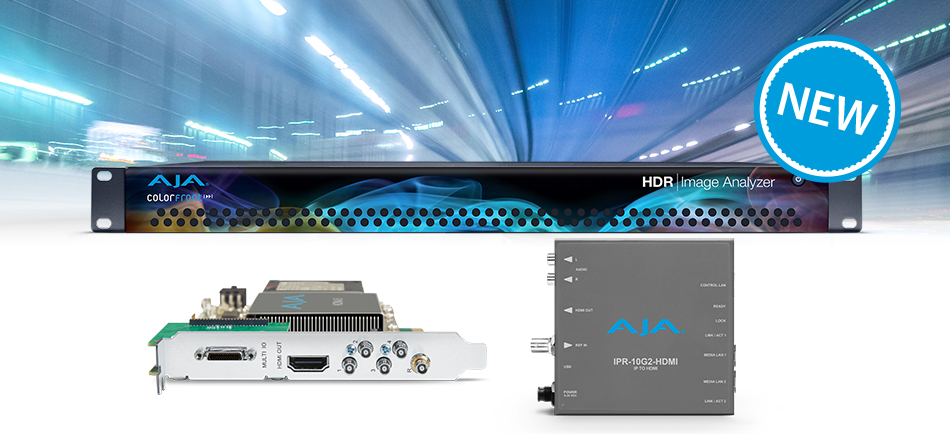 AJA Unveils New 12G-SDI, IP and HDR Solutions at IBC 2018