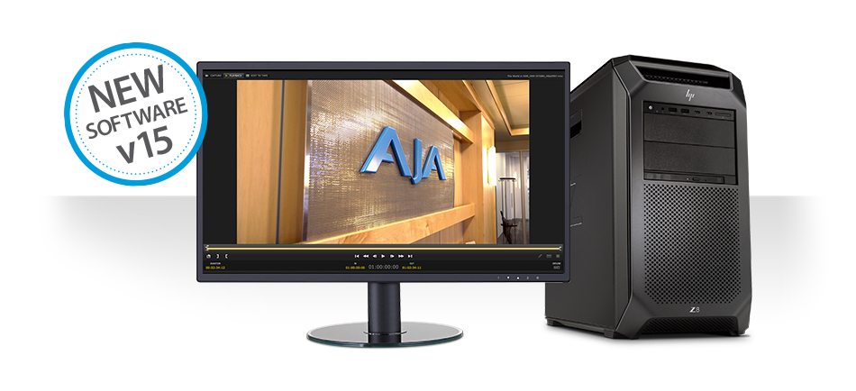 AJA Releases Desktop Software v15 for KONA, Io and T-TAP