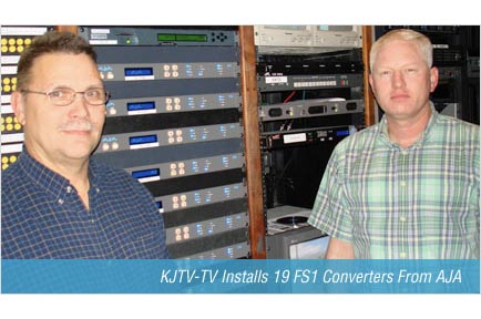 KJTV-TV Installs 19 FS1 Converters From AJA