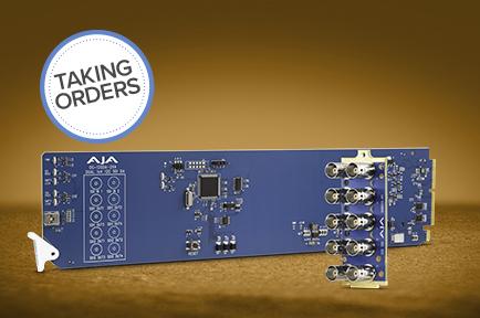 AJA Announces OG-12GDA-2x4 openGear® 12G-SDI Distribution Amplifier