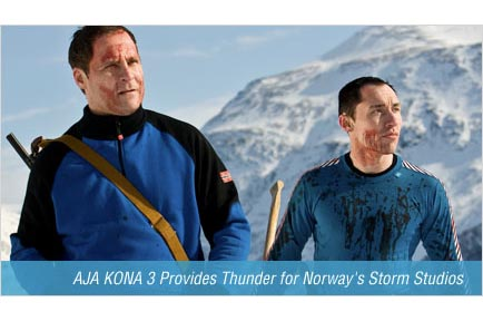 AJA KONA 3 Provides Thunder for Norway's Storm Studios