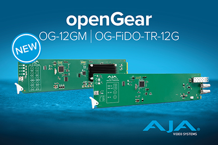 AJA Releases Two New 12G-SDI openGear® Solutions