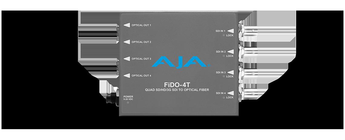 FiDO-4T-X - 4-Channel 3G-SDI to Single-Mode LCFiber Transmitter