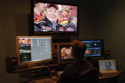 AJA Video Crosses the Finish Line for NASCAR Media Group