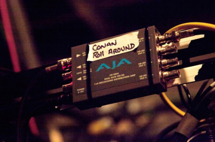 "AJA Mini-Converters Power ""CONAN"""