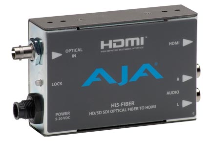 New AJA Hi5-Fiber and FiDO SDI/Optical Fiber Mini-Converters Debut at NAB 2011
