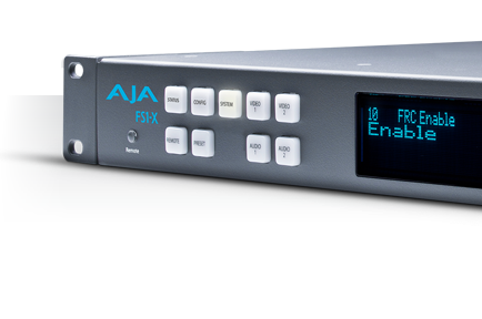 AJA Launches FS1-X; Next Generation Frame Synch and FRC