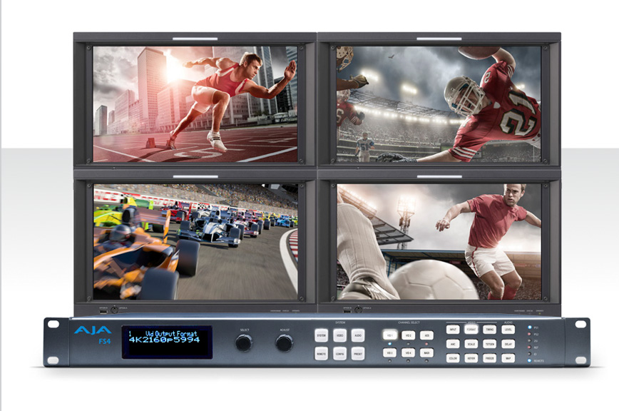 AJA Unveils FS4 Frame Synchronizer and Converter  Supporting 4K/UltraHD and Multi-channel 2K/HD/SD Workflows