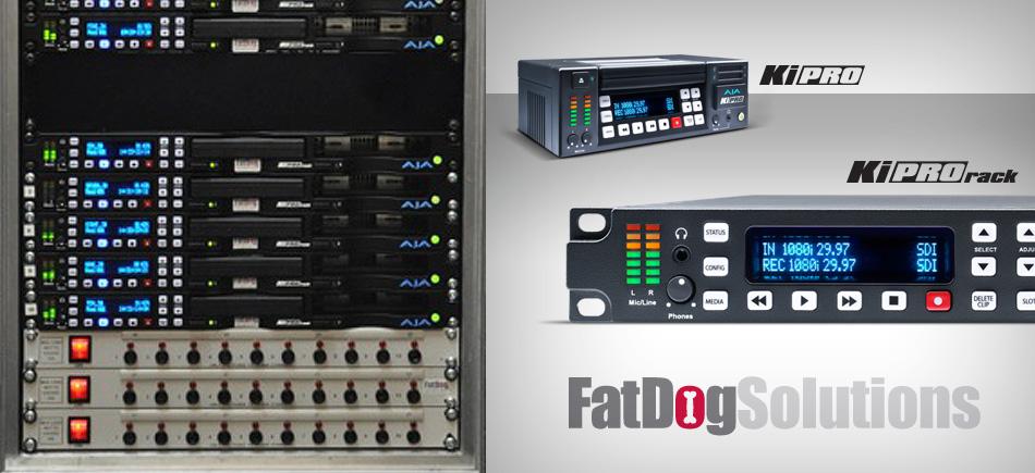 AJA Ki Pro and Ki Pro Rack Bolster Kit Offerings at Fat Dog Solutions
