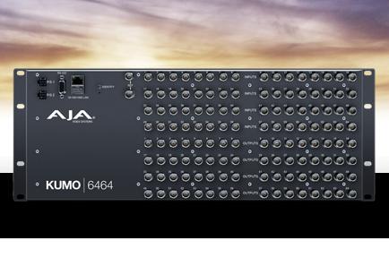 AJA Debuts KUMO® 6464 Compact SDI Router at IBC 2016