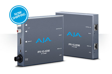 AJA Ships Video Over IP to HDMI Bridge