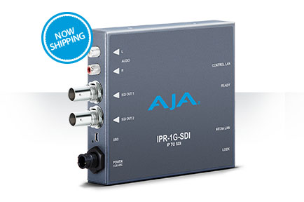 AJA Releases IPR-1G-SDI Mini-Converter for IP Workflows