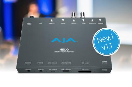 AJA Announces HELO v1.1 Firmware